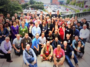 The delegates and speakers of UKPodcasters Conference 2014 (Photo Copyright www.ukpodcasters.com)