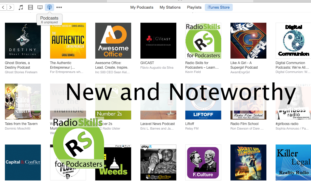 Radio Skills for Podcasters in iTunes New and Noteworthy